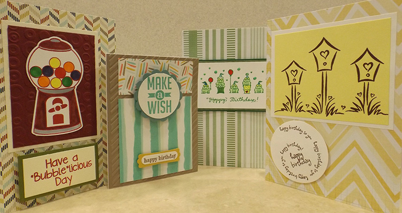 Beautiful, colorful greeting cards